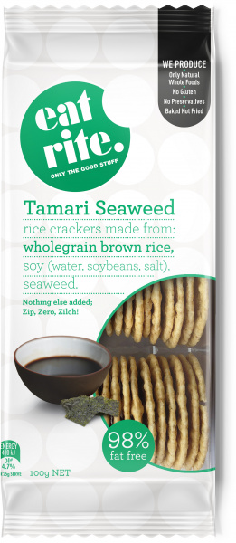 EatRite Tamari &Seaweed Reduced Salt Crackers 100g