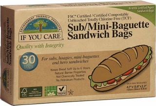 If You Care Sub/Mini-Baguette Sandwich Bags 30 Bags
