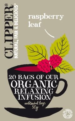 Clipper Organic Relaxing Infusion - Raspberry Leaf 20 Teabags