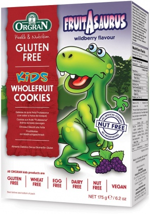 Orgran Kids Dinosaur Wholefruit Cookies 175g