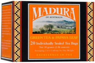 Madura Green & Papaya 20Teabags