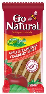 Go Natural Apple Strawberry Cranberry Ripple Meal Bar 12x80g