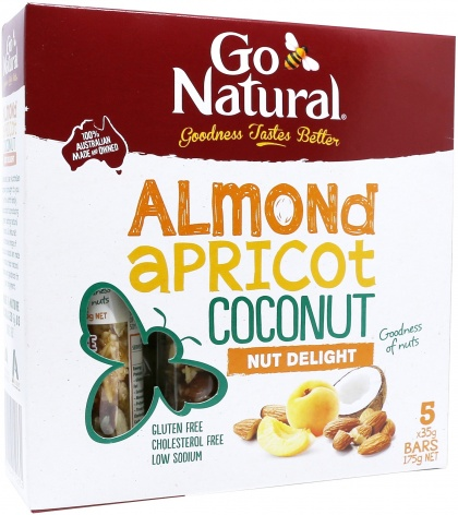 Go Natural Almond & Apricot Fruit Snacks 5x35gm