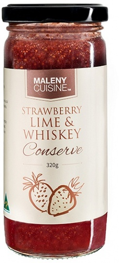 Maleny Cuisine Strawb,Lime&Whisky Conserve 320gm