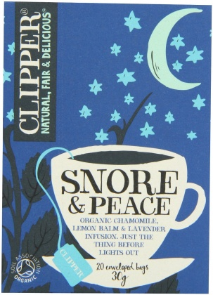 Clipper Snore & Peace - Organic Chamomile, Lemon Balm & Lavender Infusion 20 Teabags