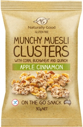 Naturally Good Munchy Muesli Clusters Apple Cinnamon G/F 10x30g