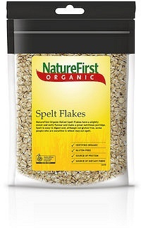 Natures First Organic Spelt Flakes Rolled 500gm