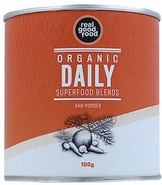 Real Good Food Organic Daily Superfood Blends Raw Powder 100g