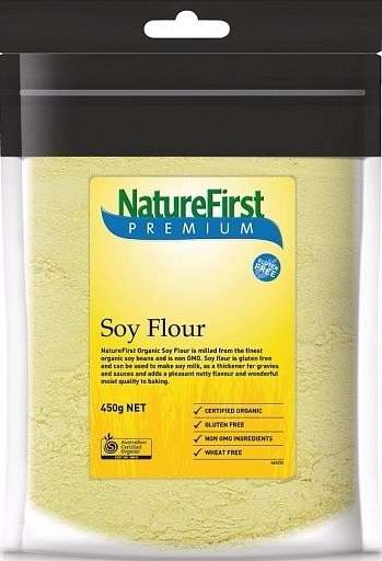 Natures First Organic Soy Flour 450g