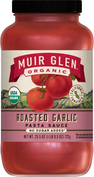 Muir Glen Pasta Sauce Roasted Garlic 723gm