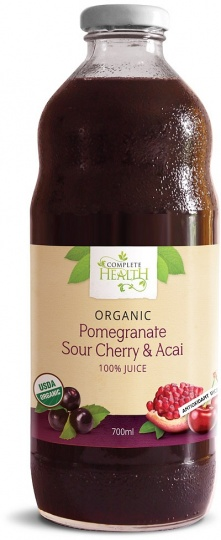 Complete Health Organic Pomegranate Sour Cherry & Acai 100% Juice 700ml