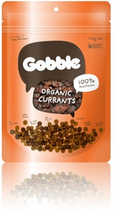 Gobble Organic Currants 375g