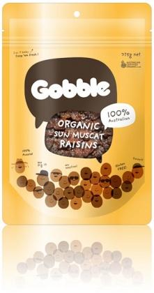 Gobble Organic Sun Muscat Raisins 375g