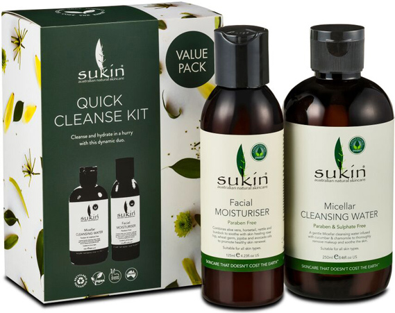 Sukin Micellar Quick Cleanse Kit Value Pack