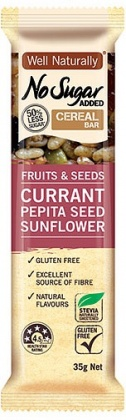 Well,naturally NAS Cereal Bar Fruits&Seeds Currant Pepita Seed Sunflower  16x35g