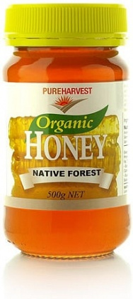 Pure Harvest Organic Native Forest Honey 500gms
