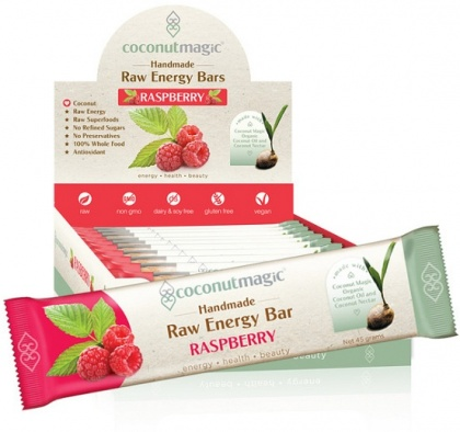 Coconutmagic Raw Energy Bars Raspberry 12x45g