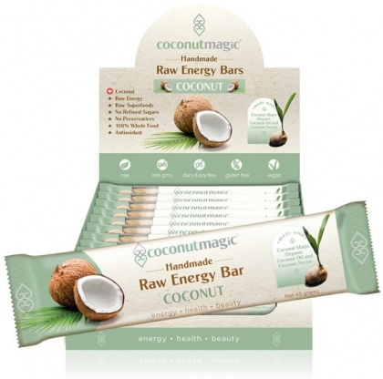 Coconut Magic Raw Energy Bars Coconut 12x45g