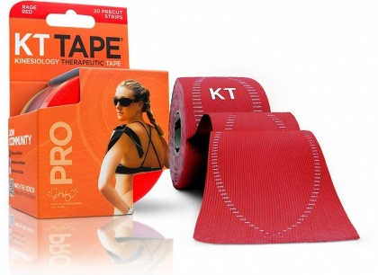 "KT Tape Pro 20 Precut 10"" Strips Rage Red"