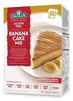 Orgran Banana Cake Mix with Caramel Icing  525g