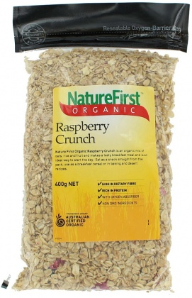 Natures First Organic Raspberry Crunch 400gm