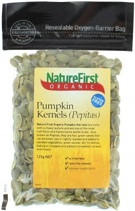 Natures First Organic Pepitas 125gm