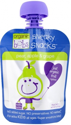 Organic Bubs Sneaky Snacks Pear,Apple&Grape 90g