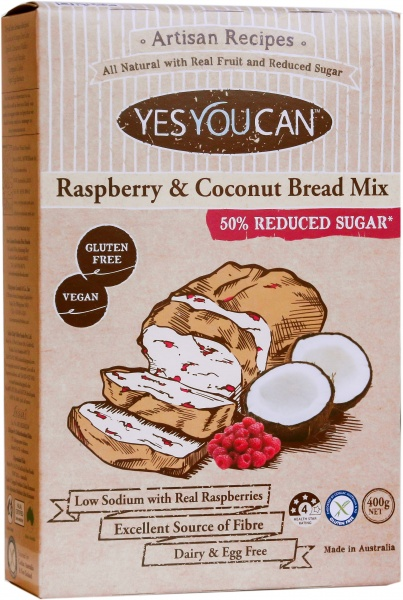 YesYouCan Artisan Raspberry & Coconut Bread Mix  450g
