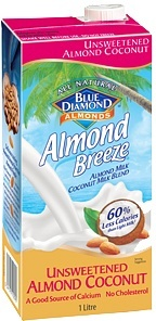 Blue Diamond Almond Breeze Unsweetened Almond & Coconut 8x1L