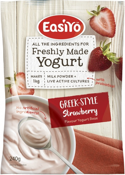 Easiyo Strawberries & Cream Yogurt 240g