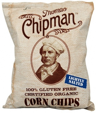 Thomas Chipman Org Lightly Salt Corn Chips G/F 50g