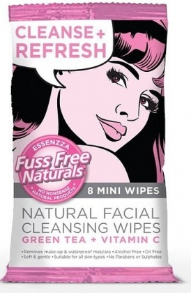 Essenzza Fuss Free Facial Cleanse Mini Wipes Refresh 8Pk x 12