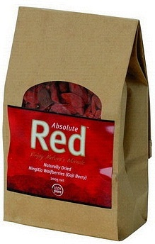 Absolute Red Naturally Dried NingXia Goji Berries 200g