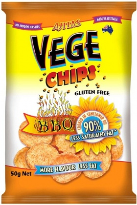 Vege Chips BBQ W/F 50gm