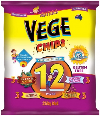 Vege Chips Multi 12 Pack   250gm