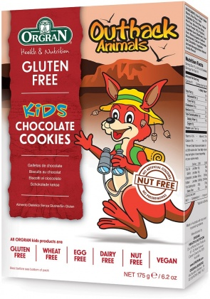 Orgran Kids Outback Animals Chocolate Cookies 175g