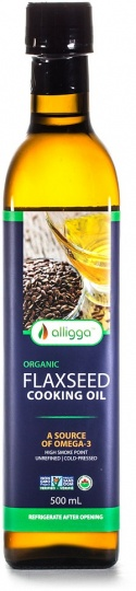 Alligga Hi Heat Organic Flaxseed Cooking Oil 500ml