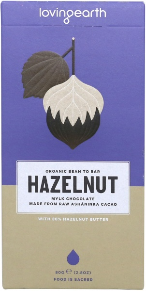 Loving Earth Raw Organic Hazelnut Mylk Chocolate 80g