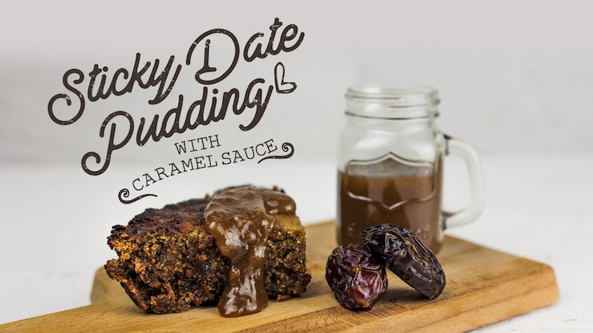 healthy sticky date pudding