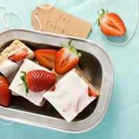 raw strawberry slice