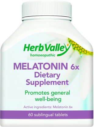 Herb Valley Homeopathic Melatonin  60tabs