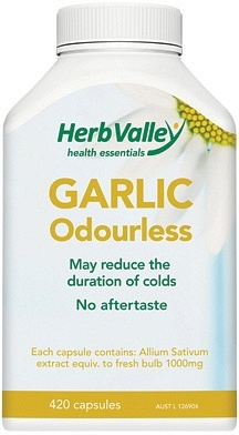 Herb Valley Garlic Odourless 1000mg 420caps