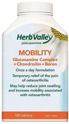 Herb Valley Mobility Glucosamine+Chondroitin+Boron 180tabs