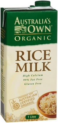 Australia's Own Organic Rice Milk 8x1L