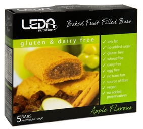 Leda Multi Pack Gluten Free Apple 5Bars 190gm