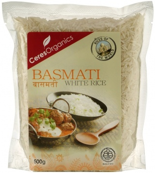 Ceres Organics Rice Basmati White 500g