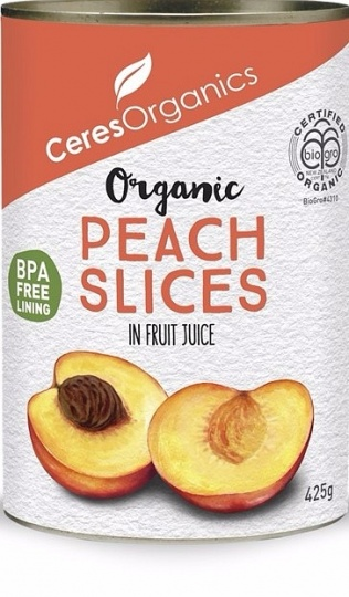 Ceres Organics Peaches Sliced 425g (Can)