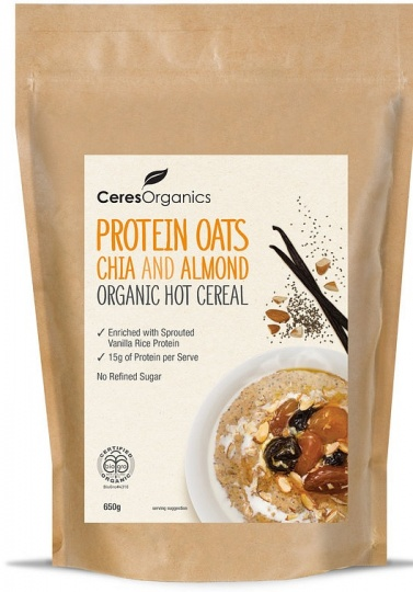 Ceres Organics Hot Cereal Protein Oats Chia & Almond 650g