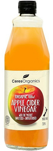 Ceres Organics Raw Apple Cider Vinegar with The Mother 750ml