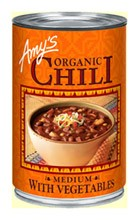 Amys Organic Chilli Medium + Vegetables 416gm